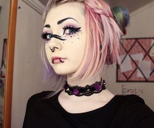 girl, beauty, and goth image