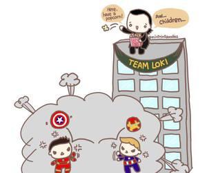 captain america, cartoon, and chris evans image
