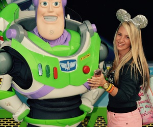 blonde, wdw, and buzz lightyear image