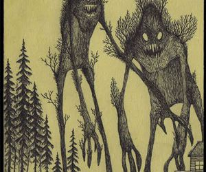 monster, tree, and art image