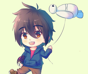 chibi, hiro, and big hero 6 image