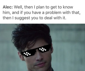 alec lightwood, magnus bane, and maleç image