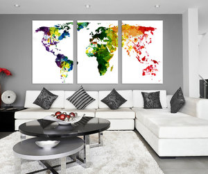 etsy, world map print, and abstract world map image