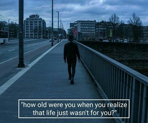 life, sad, and quotes image