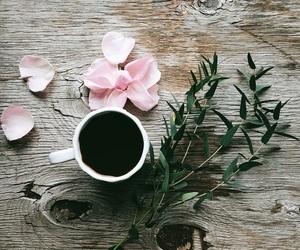 coffee, flowers, and love image