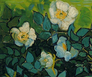 flowers, art, and green image