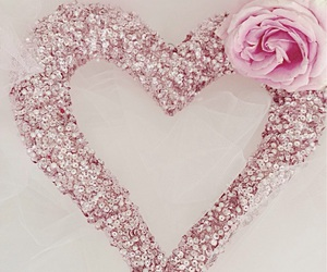 heart, pink, and flowers image