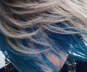 blue, grey, and hair image