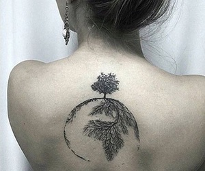 back, girl, and meaningful image