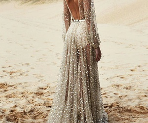 dress, fashion, and beach image