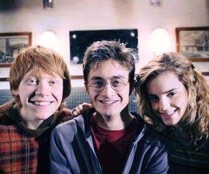 harry potter, emma watson, and rupert grint image