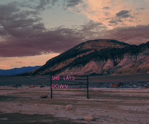 the 1975, mountains, and sky image