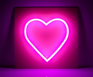 <3, heart, and neon light image