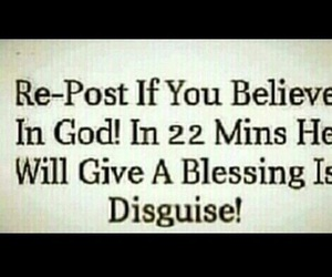 god, believe, and repost image