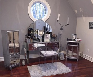 fur, mirror, and room beauty image