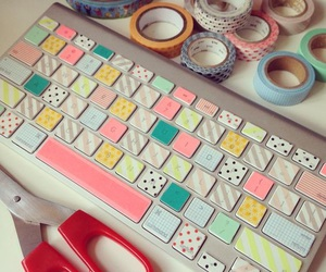 decor, diy, and keyboard image