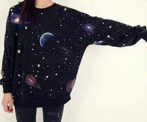 galaxy, planet, and sweater image