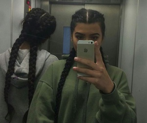 aesthetics, friends, and braiding image