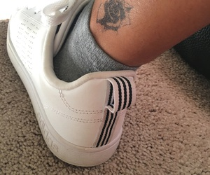 adidas, foot, and tattoo image
