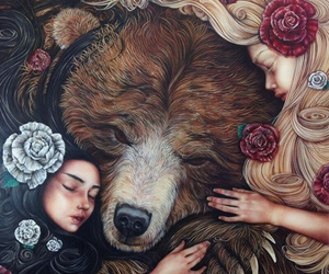 bear, art, and fairytale image
