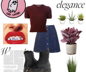 denim, succulents, and button skirt image