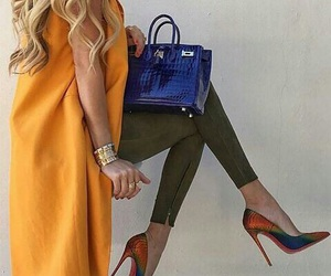 outfit and blue birkin image