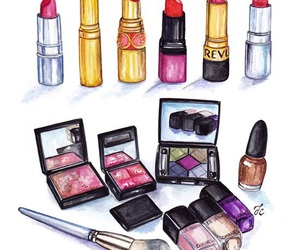 makeup, beauty, and illustration image