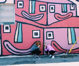best friends, colors, and fashion image