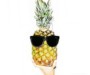 cool, sunglasses, and pineaplle image