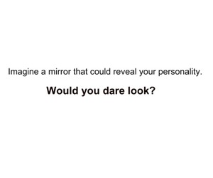 mirror, personality, and text image