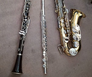 clarinet, flute, and music image
