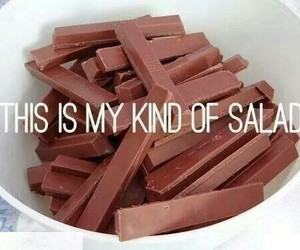chocolate, salad, and food image