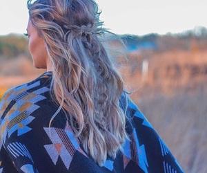art, blonde, and horizon image