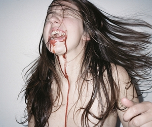 blood, hair, and vampire image