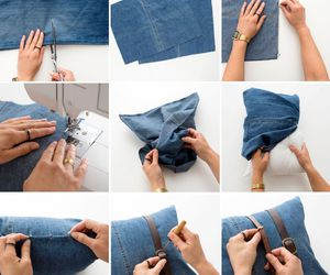 diy, jeans, and recycling image