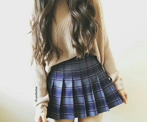 brunette, hair, and outfit image