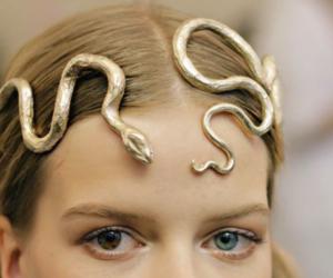 gold, snake, and eyes image