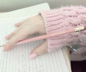 pink, pastel, and school image