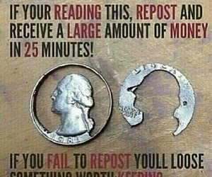 money and repost image