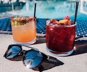 summer, drink, and sunglasses image