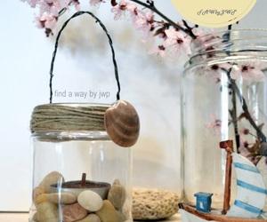 candleholder, crafts, and mason jar image