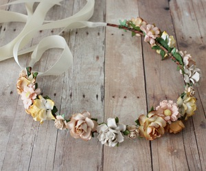 beige, flowers, and rose image