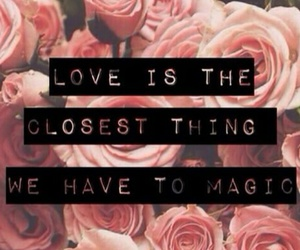 love, magic, and quotes image
