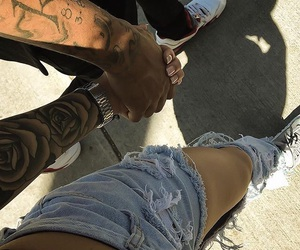 couple, love, and tattoo image