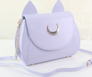 bag, purple, and sailor moon image