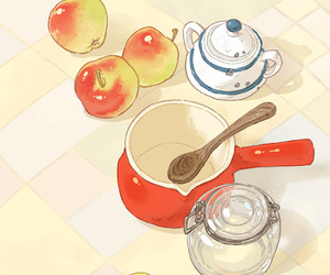 anime, apples, and baking image