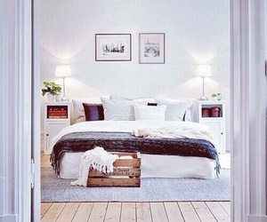 bed, love, and cozy image