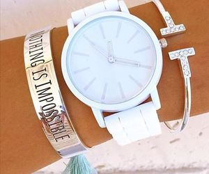 watch, beauty, and white image
