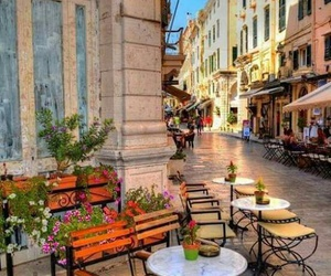 corfu, street, and Greece image