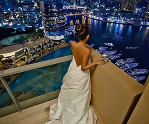 girl, luxury, and night image